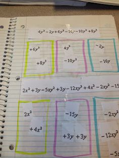 Ok, here are some of the pre-algebra pages I used for both my Foundations and Algebra 1 class. I'm sure most of the ideas came from other p...