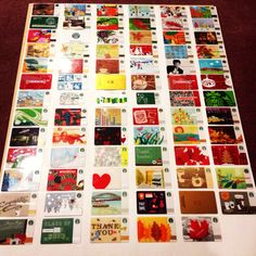 My collection of Starbucks Cards! There are 78! We've been collecting them for 10 years. A great way to showcase cards that you have collected!