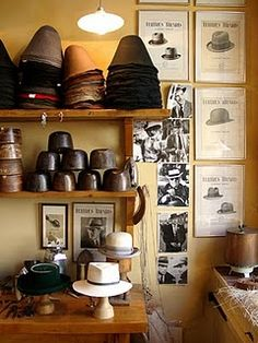 a shop for bespoke hats.