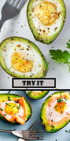 Avocado Eggs: Delicious & Inflammation-Fighting Breakfast That's Done in 15 Minutes - Healthy Eating Healthy Life Nutritious Snacks, Healthy Snacks, Healthy Breakfast Recipes, Healthy Recipes, Avocado Breakfast, Clean Eating Snacks, Healthy Eating, Healthy Life, Avocado Recipes