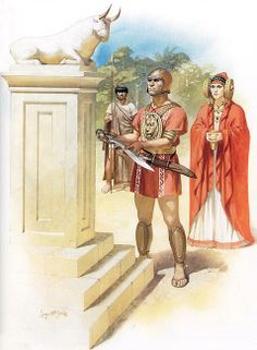 """""""Iberian chieftain, lady, and warrior of late 3rd/early 2nd century BC""""   Angus…"""