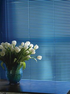 This lovely shade of blue is a great example of how well some of our Venetian Blinds look. Blue adds a dash of colour and brightness to any home, and is ideal for rooms and living areas that get plenty of natural light.