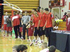 Tom Crean Basketball Camp- check out bleachers for Tijan Jobe sighting #IUCollegeBasketball