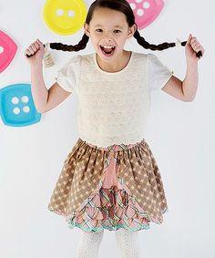 Loving this Brown Pecan Sandy A-Line Skirt - Toddler on #zulily! #zulilyfinds