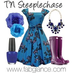 """#OOTD: #TNSteeplechase - Flower Bomb"" by fabglance on Polyvore"
