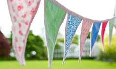 How to make bunting for your campsite or garden! Cute!!