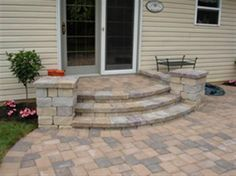 front porch stairs | Bing : curved front porch steps