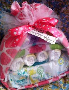 Diaper Baby Stork Baby Shower Gift Baby by KKsCupcakeCreations