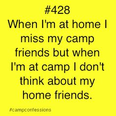 Maybe a little sad, but somewhat true... I mss summer friends in a way that I don't miss other people.  They are like another family