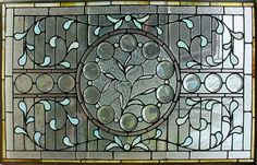 Vintage Stained Glass Windows | Antique Floral Stained Glass Window