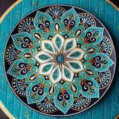 sorry for the qualityI dont know why((( the original version is good SkillOfKing. Mandala Art, Mandala Design, Mandalas Painting, Mandala Rocks, Mandala Drawing, Mandala Pattern, Mandala Canvas, Dot Art Painting, Pottery Painting