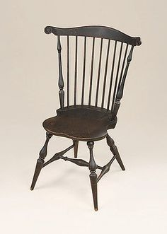 Primitive Fan-Back Side Windsor Chair - Wood - Dining Room or Kitchen Furniture & Antique High Chair dates from late 1700\u0027s or early 1800\u0027s ...