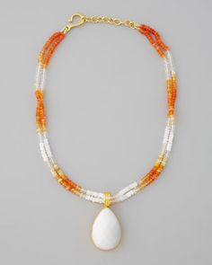 White Agate Pendant Necklace by Dina Mackney at Neiman Marcus.