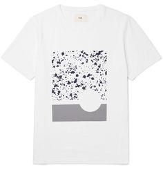 Folk - Sulka Printed Cotton-Jersey T-Shirt