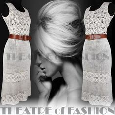 Vintage Crochet Dress Lace 6 8 10 12 14 Wedding 60s 70s Boho Hippy 30s Goddess | eBay