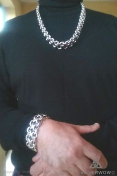 Silver Chain For Men, Chains For Men, Silver Man, Mens Silver Necklace, Men Necklace, Sterling Silver Necklaces, Mens Jewellery, Jewelry, Biker