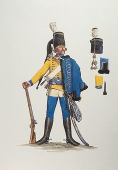 Prussia; 7th Hussars, Hussar, c.1757 by Adolph Menzel