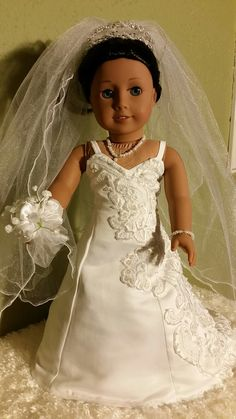 Bridal Gown for 18 inch American Girl Doll by NormasSpecialDays