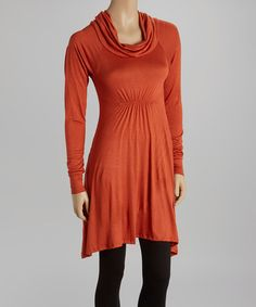 Take a look at this Pumpkin Solid Sidetail Tunic on zulily today!