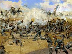 """""""¡Disparad, malditos seáis!"""" Fort Gregg, Virginia, 2 Abril 1865 - En los últimos días de la guerra, el ejército de Virginia del Norte de General Robert E. Lee combatía con Richmond a sus espaldas. Los agotados pero resueltos confederados afrontaban una superioridad enemiga abrumadora. Una sección de cañones de la 3ª Cía, Artillería Washington de Nueva Orleans, """"...la más famosa de las unidades de voluntarios de artillería confederados"""", estaba apostada en el Fuerte Gregg, una sección crucial…"""