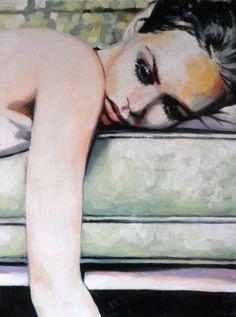"Thomas Saliot; Oil 2013 Painting ""Vanessa"""