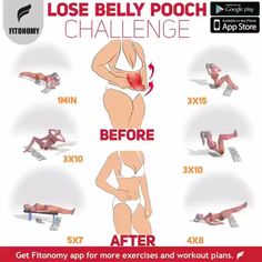Proper nutrition and a good workout plan, such as this ab challenge, can help you lose belly pooch fast and get you ready for the summer. Proper nutrition and a good workout plan, such as this ab challenge, can help you lose belly pooch fast and ge Fitness Workouts, Fun Workouts, At Home Workouts, Fitness Motivation, Best Workout Plan, Belly Pooch, Belly Belly, Flat Belly, Flexibility Workout