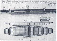 """Bateau de Neuf-Brisach. Pour acheminer les matériaux de construction pour la cité fortifiée de Neuf-Brisach par un canal qu'il a conçu, Vauban a  créé un type spécial de bateau, le     bateau Neuf-Brisach ou """"bateau du canal de Landau"""".  La forme de ce bateau est particulière. Sa bordaille présente des angles vifs au niveau des épaulures, à la manière des bateaux marnois, mais aussi au niveau du maître-bau, ceci certainement pour lui permettre de négocier plus facilement"""