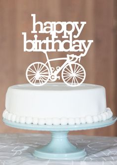 HBD bicycle cake