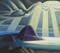 Lawren Harris Lake Superior Sketch c. Another of the Group of Seven, early century . (Contrast this with Aboriginal Art - similarly brilliant approaches from artists generations apart, similar in their clarity of vision. Tom Thomson, Emily Carr, Group Of Seven Artists, Group Of Seven Paintings, Canadian Painters, Canadian Artists, Art Gallery Of Ontario, Wow Art, Lake Superior