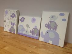 Nursery art Baby room decor Baby girl nursery wall by DesignByMaya, $255.00