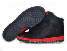 http://www.nikejordanclub.com/best-price-mens-nike-dunk-high-top-shoes-all-black-red.html BEST PRICE MENS NIKE DUNK HIGH TOP SHOES ALL BLACK RED Only $94.00 , Free Shipping!