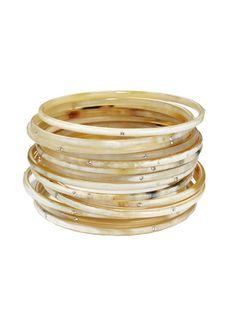 blaise set of 14 blond bracelets - Gorsuch