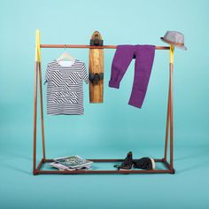 Hello Yellow  Clothes Rack by SGHstore on Etsy,