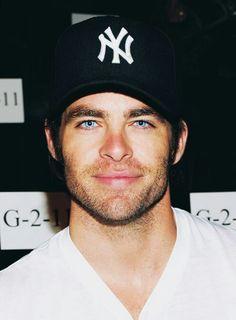 Chris Pine. Those eyesssss. I'm in love.