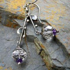 silver, quartz, ametyst. simple beauty