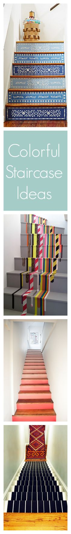 Colorful DIY Staircase Ideas