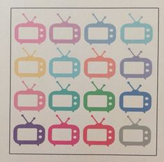Tv planner stickers for erin condren, filofax, kiki k, life planners