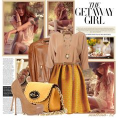 on the fence about this one.  The getaway girl, created by malbina-82 on Polyvore