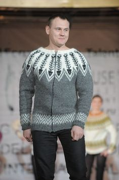 """""""Fish Bone"""" is cool.sweater is questionable. Knitting Stitches, Knitting Designs, Hand Knitting, Nordic Sweater, Men Sweater, Jumper, Cool Sweaters, Sweaters For Women, Icelandic Sweaters"""