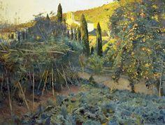 El huerto de la Ermita, obra del pintor español Joaquin Mir