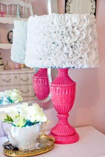 DIY Ruffle lamp shades