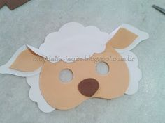 Mascara - Turn To Your Kitchen Cupboards For The Best Beauty Aids * You can find more details by visiting the image link. Sheep Crafts, Felt Crafts, Diy And Crafts, Crafts For Kids, Sheep Mask, Sheep Costumes, Black Construction Paper, Farm Birthday, Animal Masks