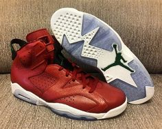 Air Jordan 6 Red Leather