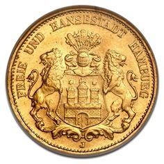 Freie Hansestadt Hamburg, 20 Mark, 7.16g Gold, 2. Wahl, 1875-1913, Gold, Deutschland, 7.16g   CoinInvest