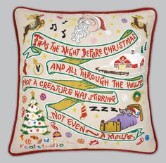 State Pillows: Twas the Night Before Christmas Pillow