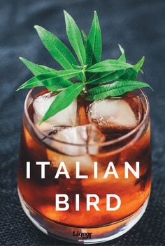 Classics with a Twist: The Italian Bird. This cocktail is built around the comfortable confines of aged rum and Campari but then is taken into a new direction and layered with fino sherry, honey water and salt.