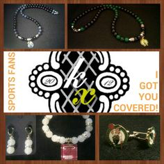 Here are some things I made for some major sports fans. Let me make something for you! kxjewelry.bigcartel.com #handmade #jewelry #handcrafted
