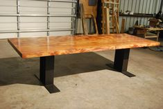Sapele Slab Table finished with Odie's Oil, Odie's Wood Butter and Odie's Wax by JT Studio