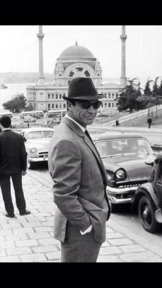 """Sean Connery in Istanbul for the A James Bond Film """"From Russia With Love"""" Sean Connery James Bond, Uma Thurman, Films Cinema, I Love Cinema, Kino Film, James Bond Movies, Faye Dunaway, Raining Men, Famous Faces"""