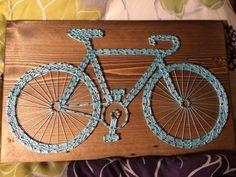 Bicycle String Art- Order from KiwiStrings on Etsy! www.KiwiStrings.etsy.com